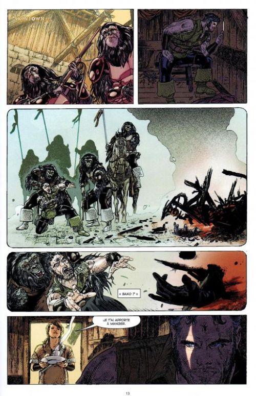 La Planète des singes T2, comics chez Emmanuel Proust Editions de Gregory, Magno, Moore, Woodard