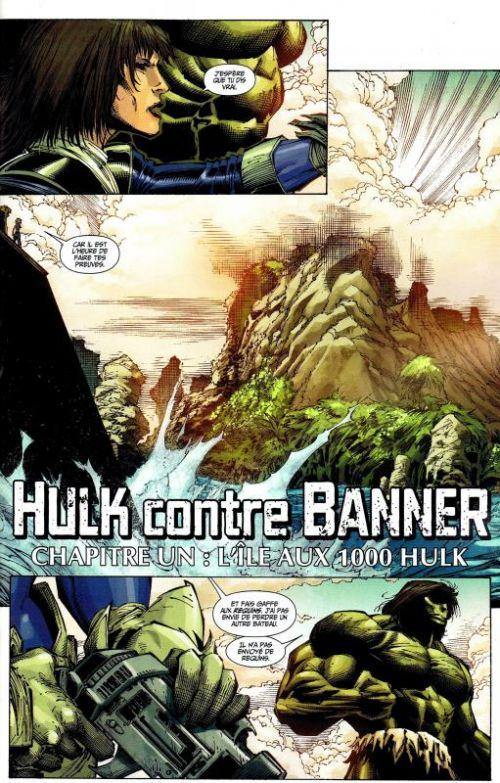 Hulk – Revue V 2, T1 : Hulk contre Banner (0), comics chez Panini Comics de Remender, Aaron, Parker, Zircher, Shalvey, Portacio, Gandini, Martin jr, Troy, Prianto, Rosenberg, Keown