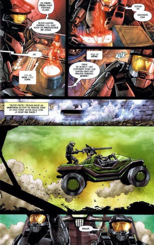 Halo T3 : Blood line (0), comics chez Panini Comics de Van Lente, Portela, Arreola