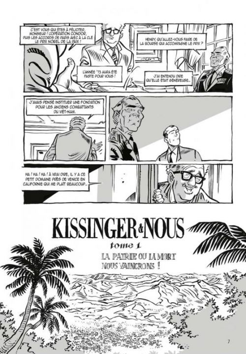 Kissinger et nous, bd chez Glénat de Vaillancourt, Rouyère