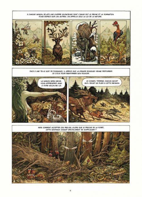 Dans la forêt, bd chez Soleil de Richerand