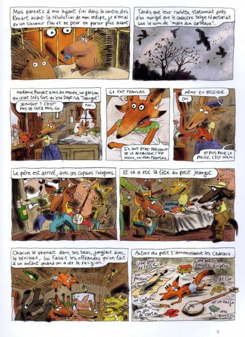 Jeangot T1 : Renard Manouche (0), bd chez Gallimard de Sfar, Oubrerie