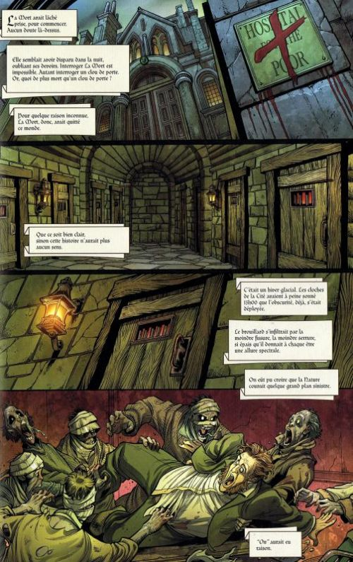 Zombies Christmas Carol : Un chant de Noël zombie (0), comics chez Panini Comics de McCann, Baldeon, Treece, Gonzales, Daniel, Kaluta