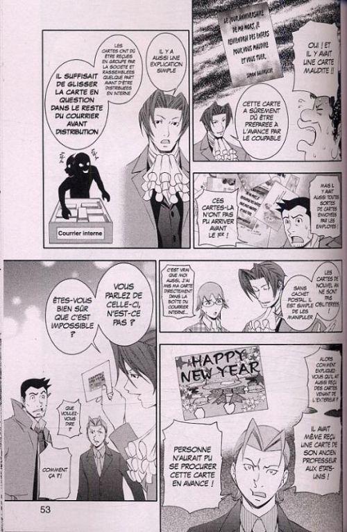 Ace attorney Investigations T3, manga chez Kurokawa de Capcom , Kuroda, Maekawa