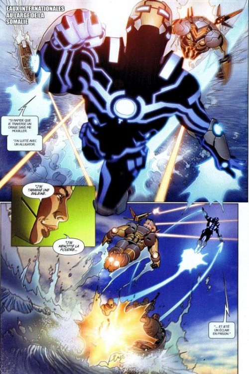 Iron Man (revue) – V 1, T7 : Longue est la route (0), comics chez Panini Comics de Bendis, Fraction, Hickman, Deodato Jr, Garney, Larroca, Dragotta, Keith, Sotomayor, d' Armata