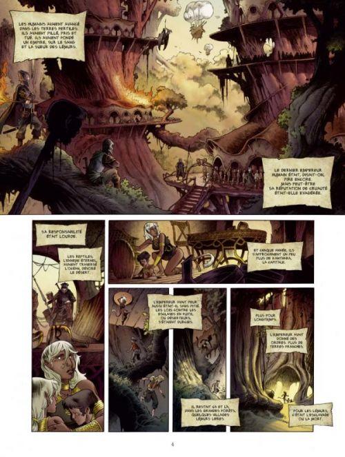 Trois peuples T1 : L'héritage du feu (0), bd chez Glénat de Janolle, Van Den Abeele