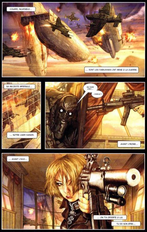 Carbon Grey T1 : La prophétie de Gottfaust (0), comics chez Panini Comics de Gardner, Evans, Nguyen, Kennedy, Loh