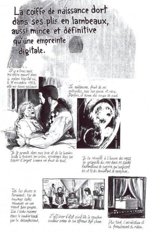 La coiffe de naissance, comics chez Çà et là de Moore, Campbell
