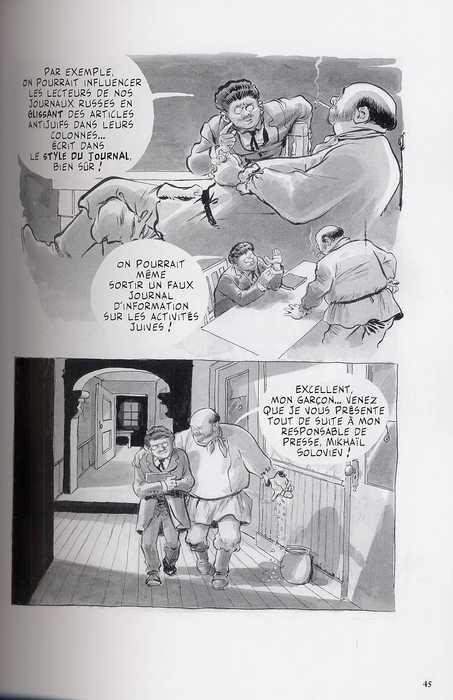 Le complot, comics chez Grasset de Eisner