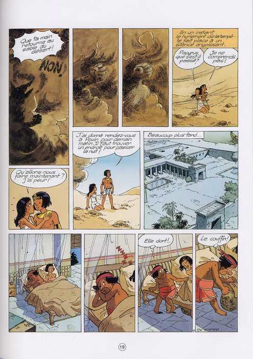 Papyrus T28 : Les enfants d'Isis (0), bd chez Dupuis de de Gieter, Grobet
