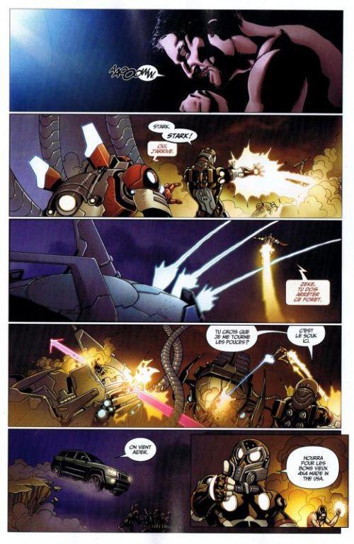 Iron Man (revue) – V 1, T11 : La fin des temps (0), comics chez Panini Comics de Hickman, Bendis, Fraction, Gaydos, Pacheco, Araujo, Larroca, Stegman, d' Armata, Mounts, Beredo, Peter