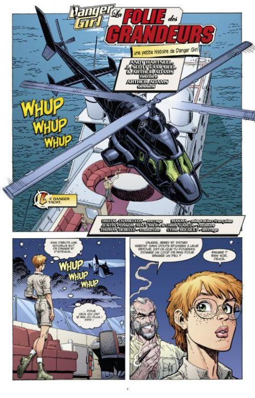 Danger girl : Destination Danger (0), comics chez Glénat de Campbell, Hartnell, Noto, Yune, Chiodo, Mack, Adams, Ponsor, Garcia, Milla