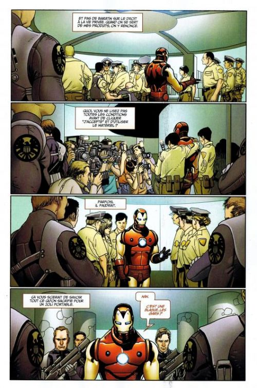 Iron Man (revue) – V 1, T12 : Foncer (0), comics chez Panini Comics de Hickman, Bendis, Fraction, Dragotta, BB, Oeming, Deodato Jr, Becky Cloonan, Larroca, Dalrymple, Stegman, Knisley, Doyle, Mounts, Peter, d' Armata, Beredo