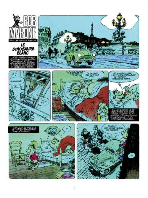 Bob Marone T1 : Le dinosaure blanc (0), bd chez Dargaud de Yann, Conrad, Lucie