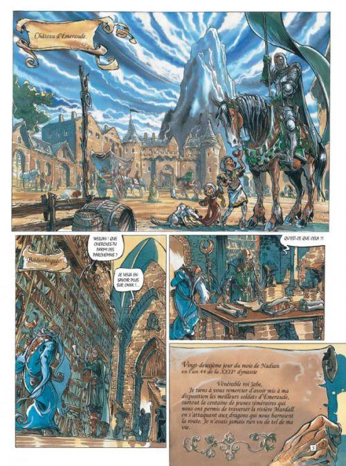 Les Chevaliers d'Emeraude T4 : Le garçon foudre (0), bd chez Casterman de Robillard, Oger