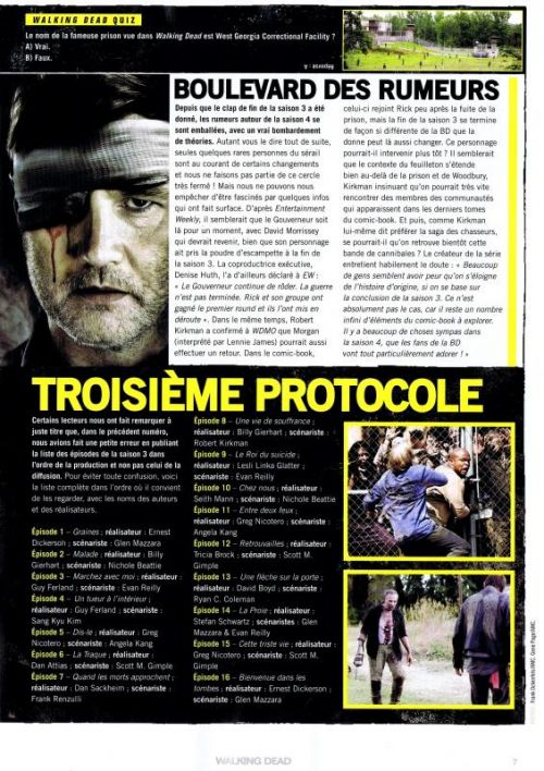 Walking Dead – Le magazine officiel, T3, comics chez Delcourt de Collectif, Bonansinga, Adlard