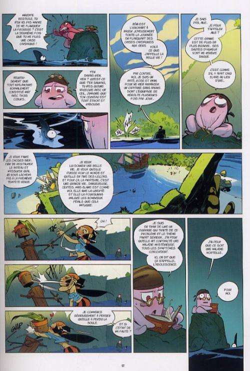 Tangomango T2 : La gazette du pirate (0), bd chez Ankama de Adrian