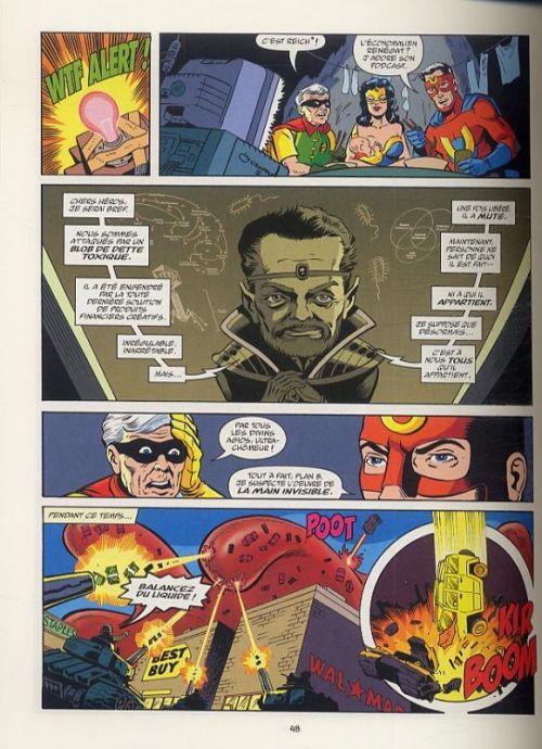 Les aventures d'Ultra-Chômeur, comics chez Presque Lune de Origen, Golan