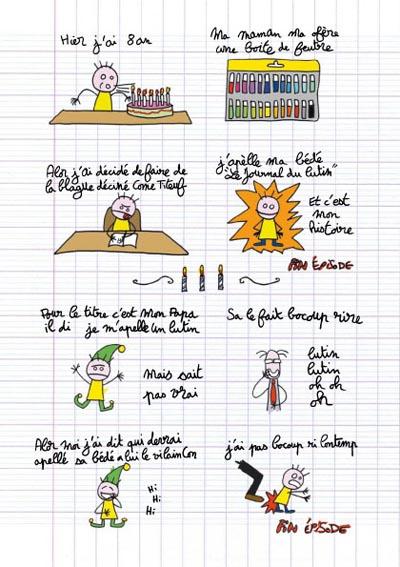 Le journal du lutin T1 : CE1 2005-2006 (0), bd chez Delcourt de Barte
