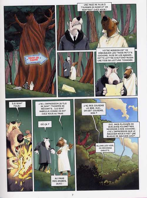 Les 3 petits cochons, bd chez Emmanuel Proust Editions de Tarek, Morinière, Svart
