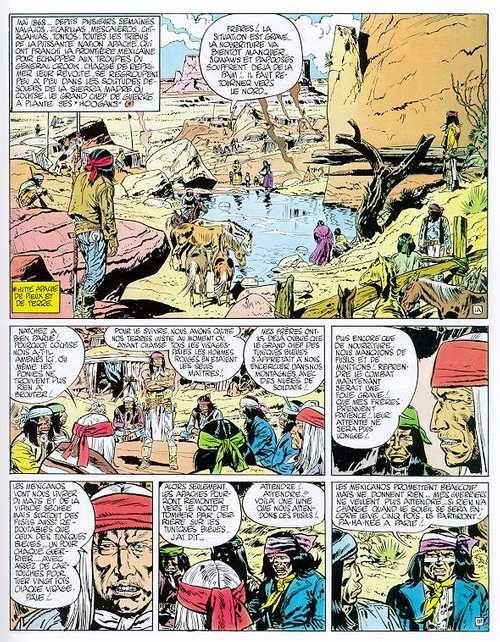 Blueberry – cycle 1 : Les premières guerres indiennes, T5 : La piste des Navajos (0), bd chez Hachette de Charlier, Giraud, Blanc-Dumont