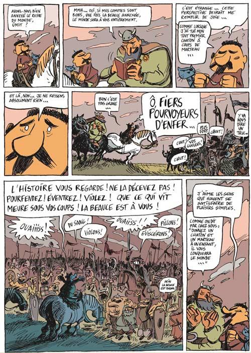 Une aventure rocambolesque de... T3 : Attila : le fléau de Dieu (0), bd chez Dargaud de Larcenet, Casanave, Larcenet