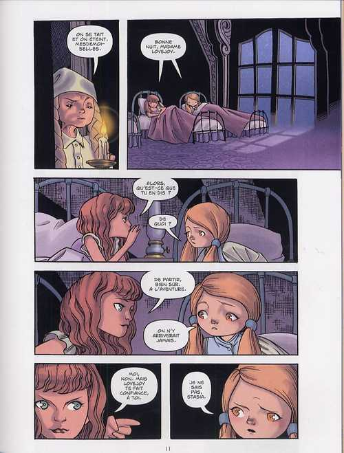 Polly et les pirates T1 : L'héritage de Meg Malloy (0), comics chez Les Humanoïdes Associés de Naifeh, Ralenti