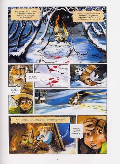 Sans famille T4 : Neige et loups (0), bd chez Delcourt de Degruel
