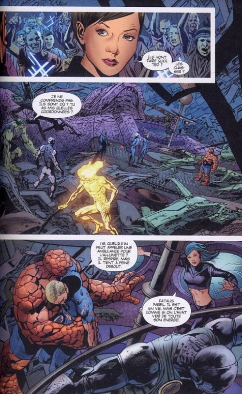Fantastic Four par Mark Millar, comics chez Panini Comics de Millar, Immonen, Hitch, Edwards, Mounts, Sotomayor, White