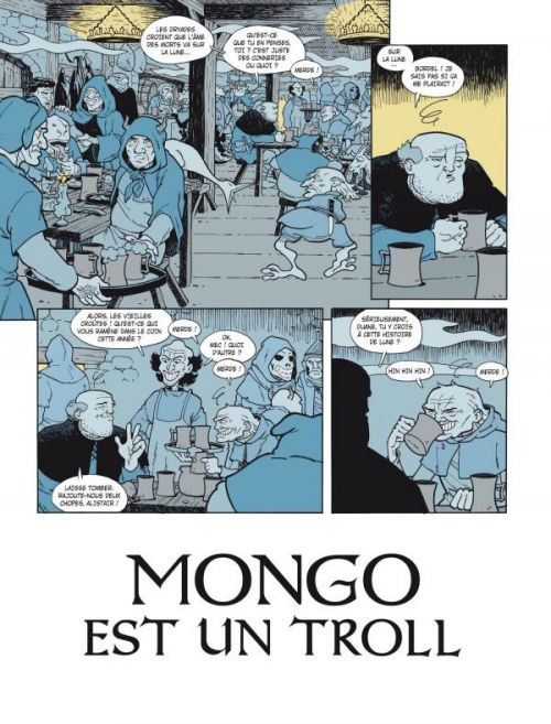 Mongo est un troll, bd chez Delcourt de Squarzoni