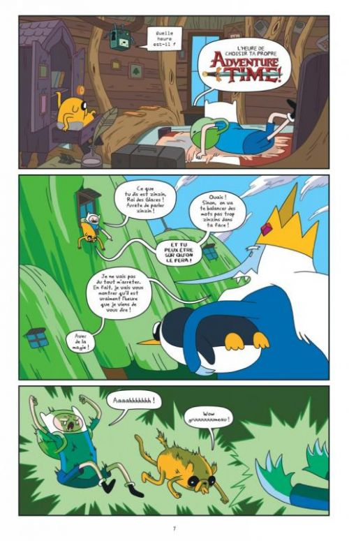 Adventure time T3, comics chez Urban Comics de North, Paroline, Lamb, Houghton