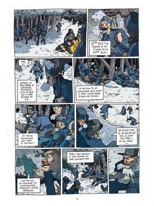 Les Poilus d'Alaska T1 : Moufflot, hiver 1914 (0), bd chez Casterman de Delbosco, Duhand, Brune, Ralenti