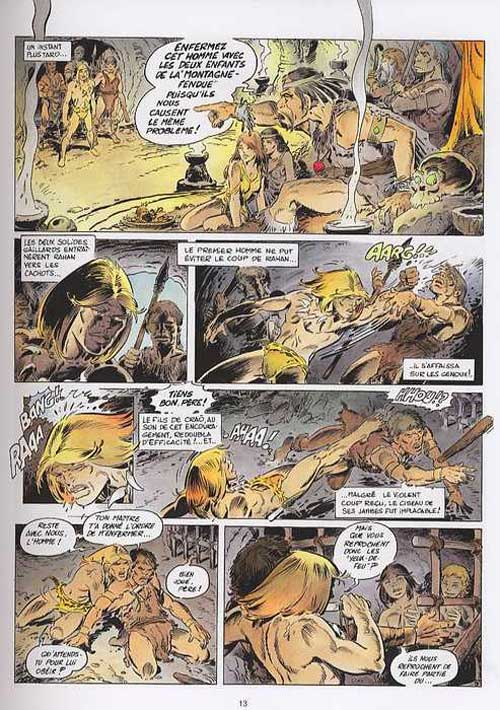 Rahan T3 : Les fils de Rahan (0), bd chez Lecureux de Lecureux, Cheret, Cheret
