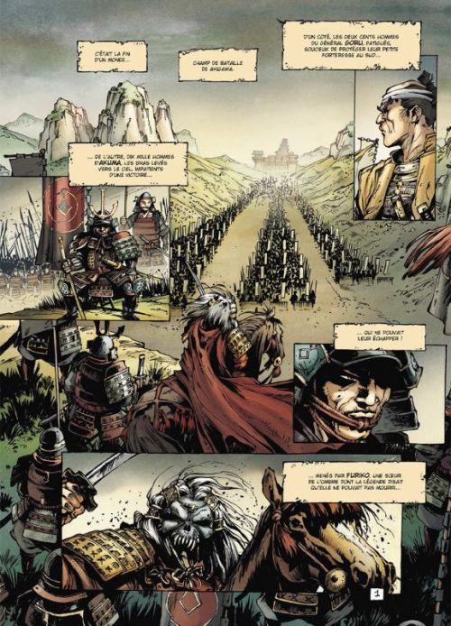 Samurai - Légendes T3 : L'aube rouge (0), bd chez Soleil de Di Giorgio, Genet, Mormile, Paitreau