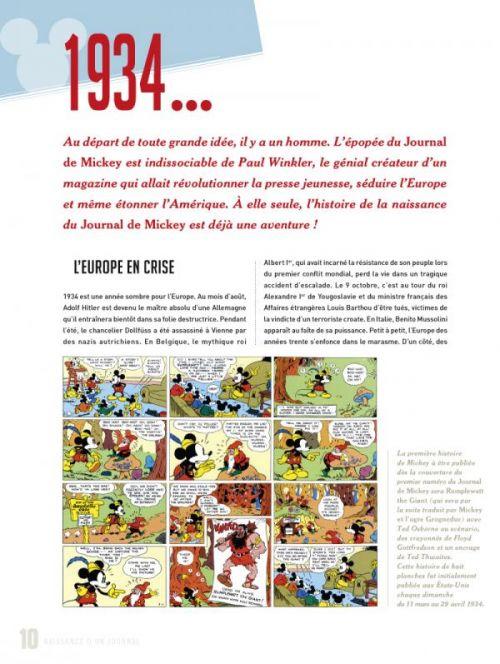 Grande histoire du Journal de Mickey, bd chez Glénat de Weber, Collectif