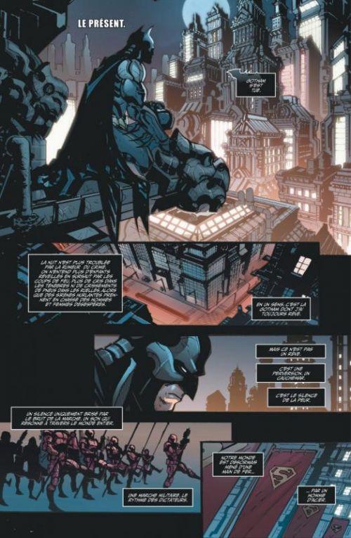 Injustice - Les Dieux sont parmi nous T1 : Année 1 - 1ère partie (0), comics chez Urban Comics de Taylor, Raapack, Yardin, Gimenez, Miller, Redondo, Derenick, Egea, Lopez, Sanchez, Elder, Casas, Snyder, Suayan