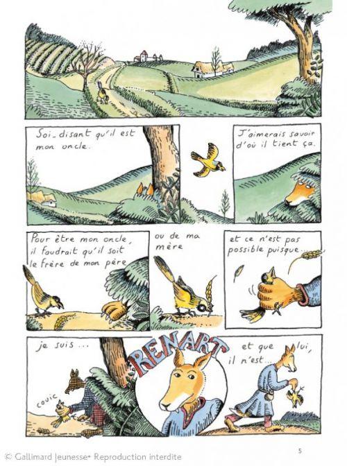 Le Roman de Renart, bd chez Gallimard de Heitz