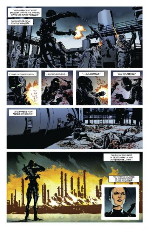 Lazarus T1 : Pour la famille (0), comics chez Glénat de Rucka, Lark, Gaudiano, Arcas