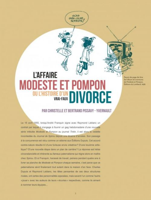 Modeste et Pompon, bd chez Le Lombard de Greg, Goscinny, Peyo, Franquin, Tibet