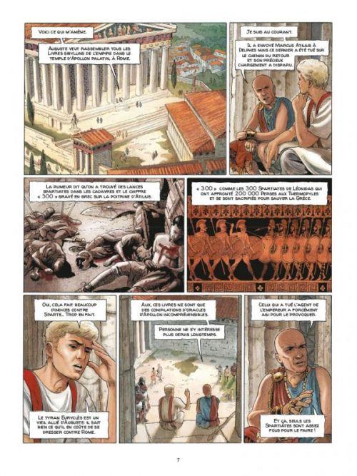 Alix senator – cycle 2, T4 : Les Démons de Sparte (0), bd chez Casterman de Mangin, Demarez, Alquier