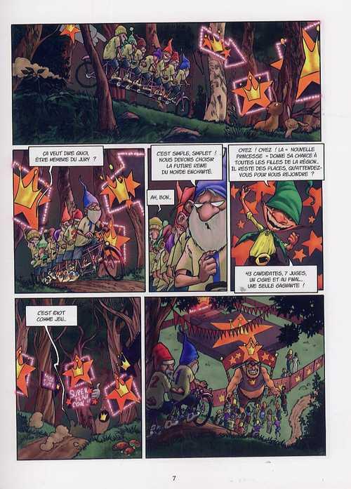 Les 7 nains et demi T1, bd chez Emmanuel Proust Editions de Tarek, Morinière, Svart