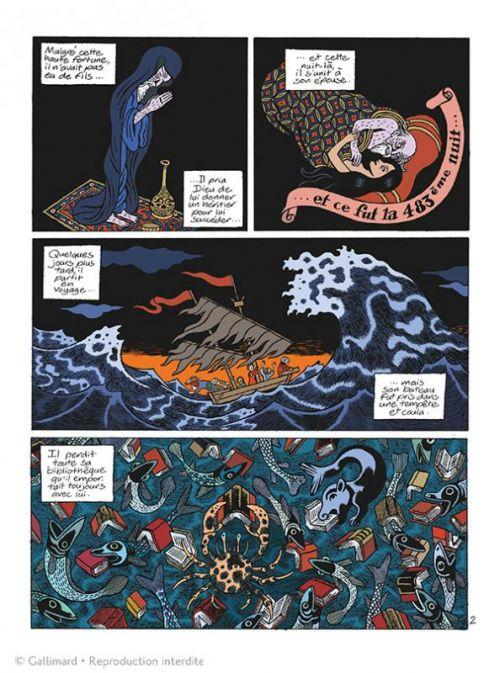 Hâsib et la reine des serpents, bd chez Gallimard de David B.