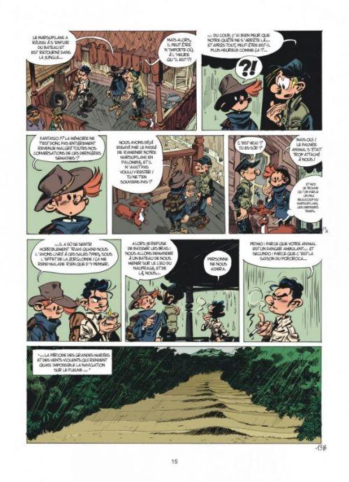 Spirou et Fantasio T55 : La colère du Marsupilami (0), bd chez Dupuis de Vehlmann, Yoann, Croix