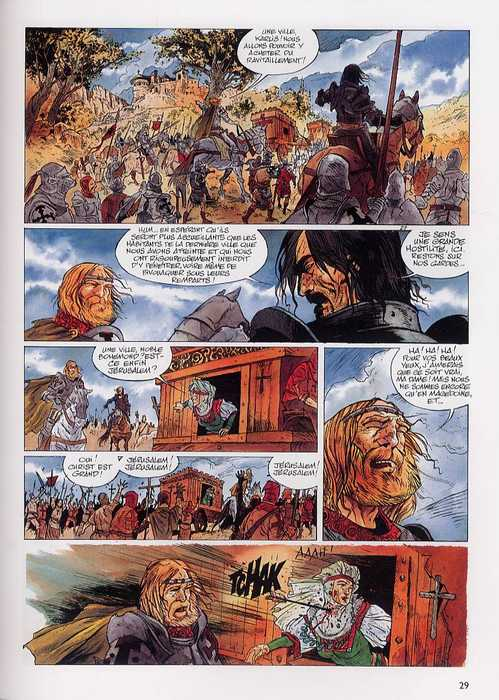 Le rêve de Jérusalem T1 : La milice sacrée (0), bd chez Dupuis de Thirault, Marty