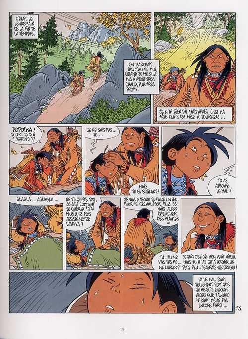 Popotka le petit sioux T7 : Le çarçon étranger (0), bd chez Delcourt de Chauvel, Simon