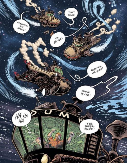 Space boulettes, comics chez Casterman de Thompson, Stewart