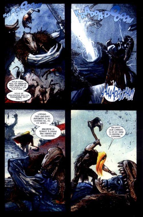 Thor (2013) T4 : Les dernières heures de Midgard (0), comics chez Panini Comics de Aaron, Bisley, Alessio, R.M. Guéra, Ribic, Svorcina, Brusco