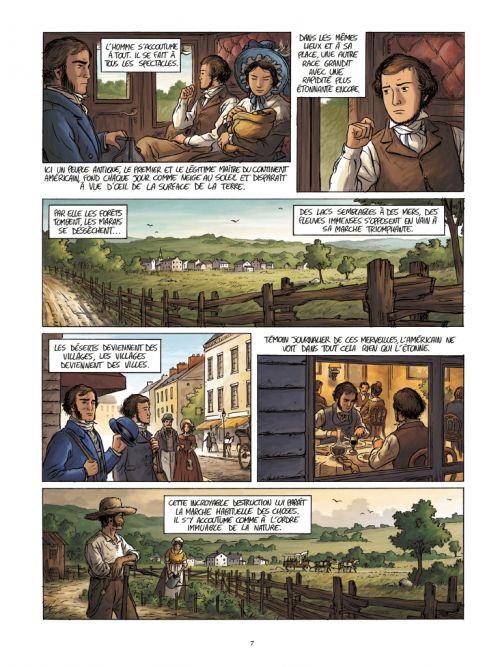 Tocqueville, vers un nouveau monde, bd chez Casterman de Bazot
