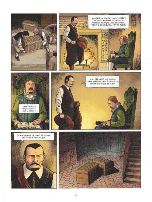 Le Secret de la chartreuse, bd chez Glénat de Bidot, Häflinger