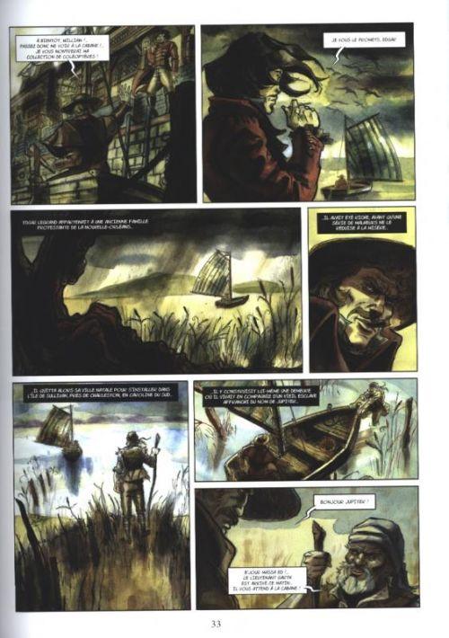 Histoires extraordinaires d'Edgar Poe, bd chez Les éditions du Long Bec de Seiter, Thouard